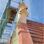 Oprava fasády a věžiček na škole